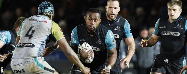 Leone Nakarawa in action for Glasgow Warriors
