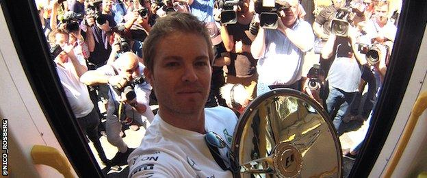 Nico Rosberg on the tram