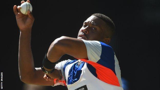 England bowler Chris Jordan