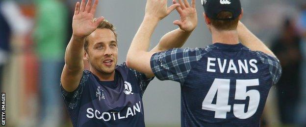 Josh Davey took 3-63 for Scotland