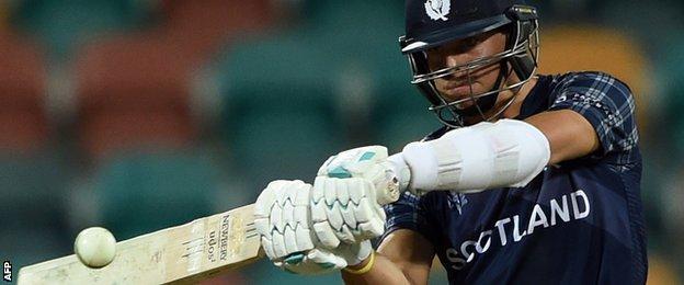 Scotland batsman Freddie Coleman