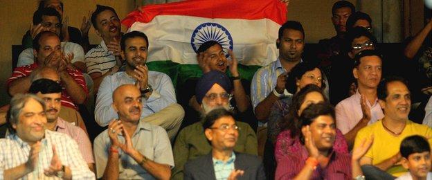 Spectators watch the Indian Open