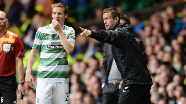 Stefan Johansen and Ronny Deila were reunited at Celtic