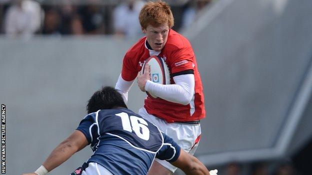 Rhys Patchell won his two Wales caps on the 2013 tour to Japan