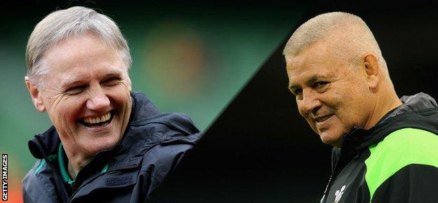 Ireland coach Joe Schmidt and Wales coach Warren Gatland