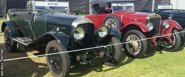Red Bull picture of vintage cars
