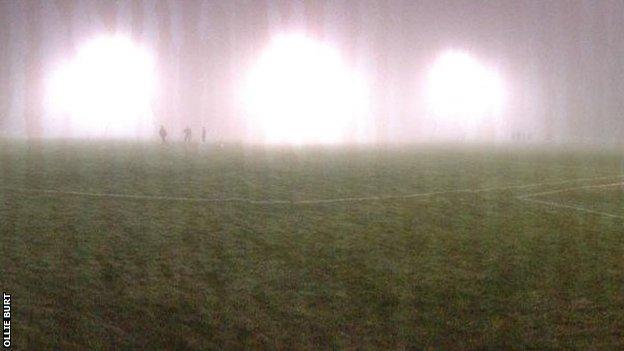 The fog at Poltair Park