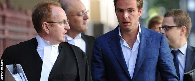 Giedo van der Garde arriving at court