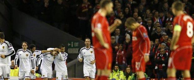 Liverpool at Anfield in the Champions League