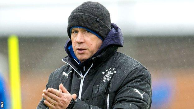 McDowall led Rangers to three victories in his 10 matches in charge