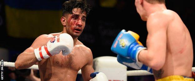 British Lionhearts' Qais Ashfaq was defeated in one of two bouts ended by serious cuts.