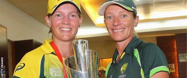 Meg Lanning and Cathryn Fitzpatrick
