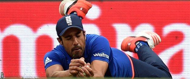 Ravi Bopara takes a catch