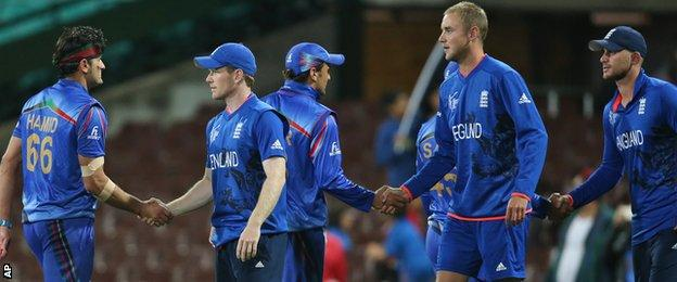 England complete victory against Afghanistan