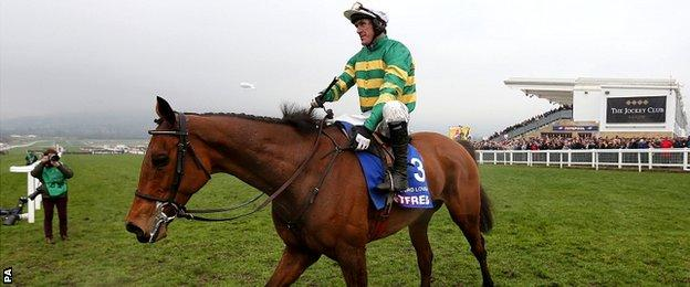 Carlingford Lough ridden by jockey Tony McCoy