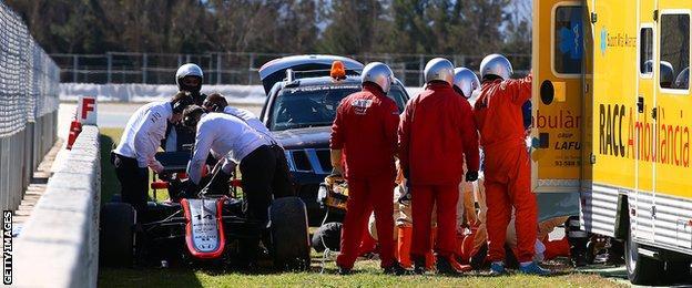 Alonso crash