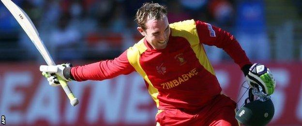 Brendan Taylor reaches his century in his last ODI for Zimbabwe