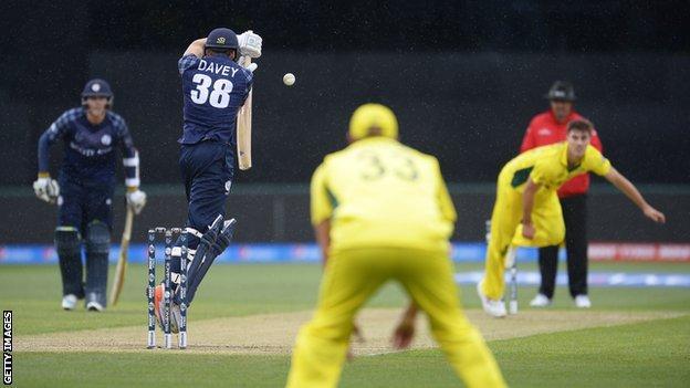 Scotland lost by seven wickets to Australia