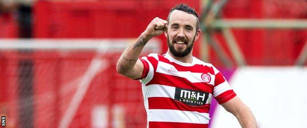 Dougie Imrie bagged the second for Accies