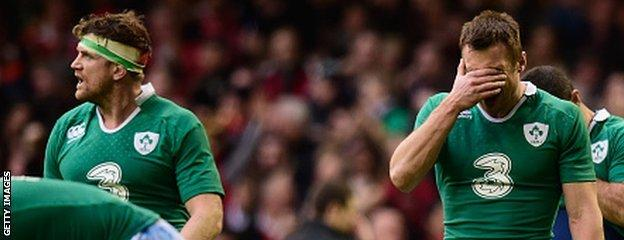 The loss for Ireland against Wales was their first in 11 internationals