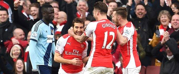 Mathieu Flamini came onto score with his first touch