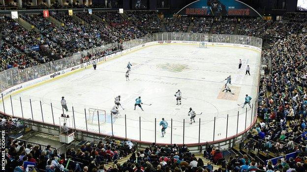 The biggest crowd at the Odyssey Arena for 10 years watched Belfast play Nottingham on Saturday night