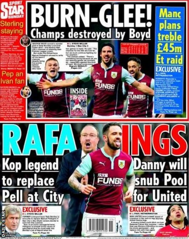 Daily Star's Sunday backpage