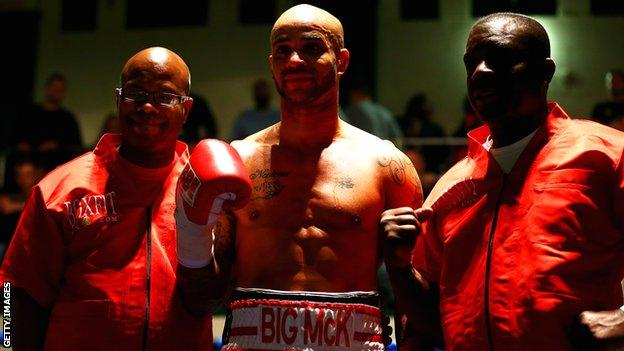 Leon McKenzie with father Clinton (right) and uncle Duke