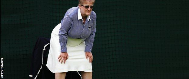 A line judge at Wimbledon