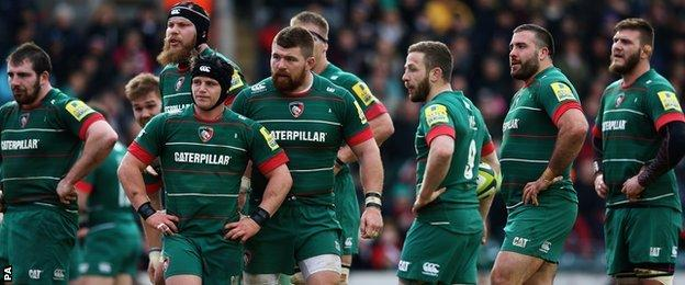 Leicester v Exeter at Welford Road