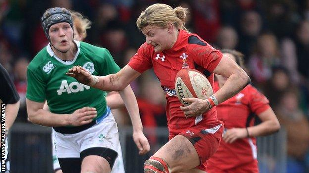Rachel Taylor in action against Ireland