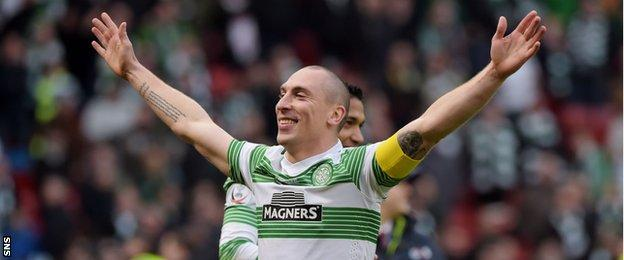 Scott brown remains a firm favourite with the Celtic supporters.