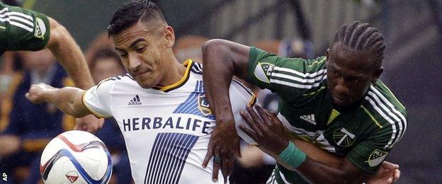 LA Galaxy and Portland Timbers