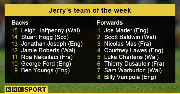 Jerry's team of the week