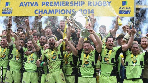 Northampton Aviva Premiership champions 2014