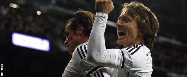 Real Madrid duo Gareth Bale (left) and Luka Modric