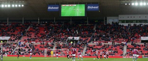 Upset Sunderland fans began leaving before half-time against Aston Villa