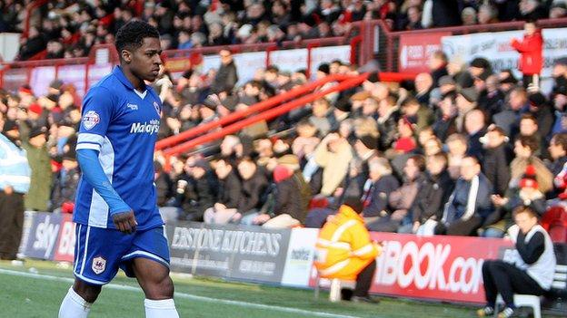 Kadeem Harris scored two goals in 11 matches during a loan spell for Brentford in 2013-14 season