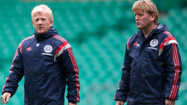 Strachan brought McCall onto his coaching staff shortly after being named Scotland manager in January 2013