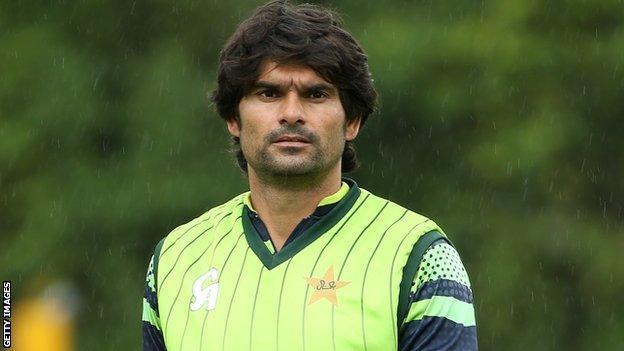 Pakistan bowler Mohammad Irfan