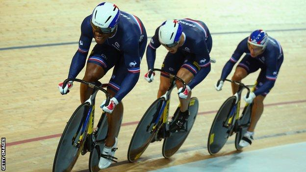 French men's team sprint win world championship gold