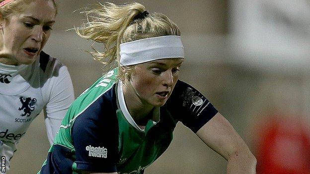 Naomi Carroll top-scored for Ireland with four goals against Turkey
