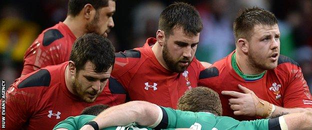Aaron Jarvis, Scott Baldwin and Rob Evans will pack down against Italy