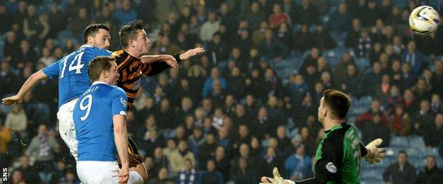 Nicky Clark scores for Rangers against Alloa Athletic