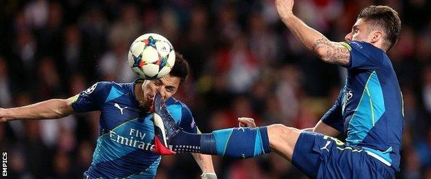 Giroud and Sanchez