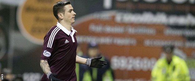 Hearts midfielder Jamie Walker