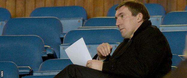 Hibernian manager Alan Stubbs