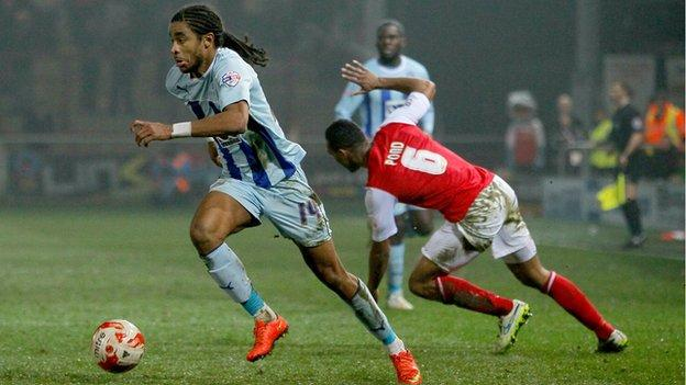 Loan man Dominic Samuel' scored his fifth goal in 10 games for Coventry City in the 2-0 win at Fleetwood