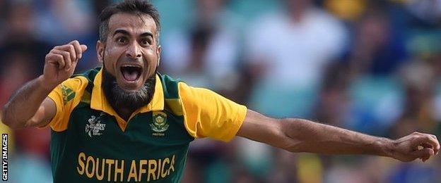 South Africa bowler Imran Tahir