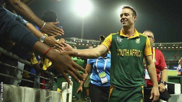 South Africa captain AB de Villiers